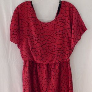 BCBGeneration Red Dress W/ Ruffles in the Back
